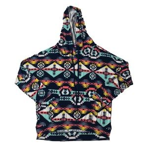 Lightweight Aztec Hooded Sweater
